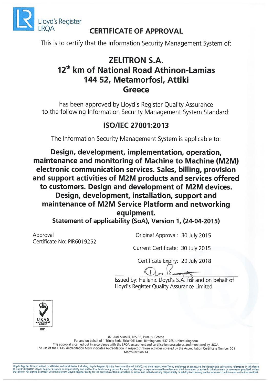 Zelitron ISO27001_EN